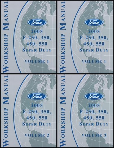 2005 Ford Super Duty F-250-550 Repair Manual Set Original