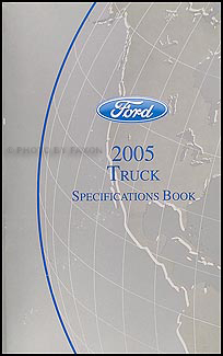 2005 Ford Truck SUV and Van Service Specifications Book Original