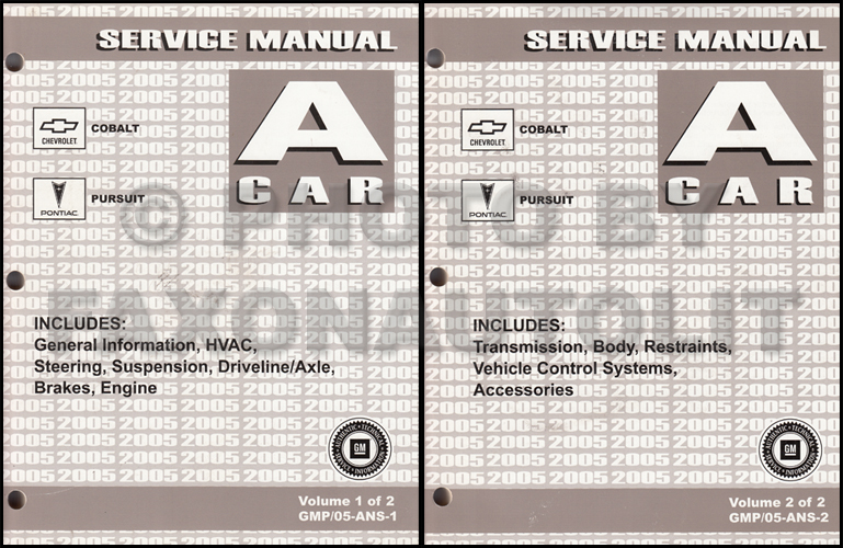 2005 Cobalt and Pursuit Repair Manual Original