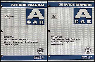 2005 Chevy Aveo Repair Manual Original 2 Volume Set