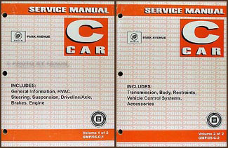 2005 Buick Park Avenue Repair Manual Original 2 Volume Set