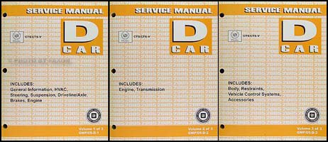 2005 Cadillac CTS CTS-V Repair Manual 3 Original Volume Set