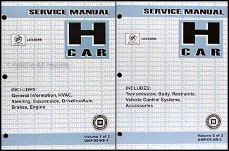 2005 Buick LeSabre Repair Manual Original 2 Volume Set