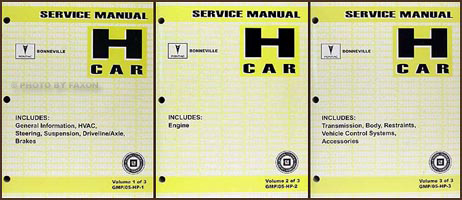 2005 Pontiac Bonneville Repair Manual Original 3 Volume Set