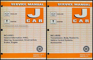 2005 Cavalier and Sunfire Repair Manual Original 2 Volume Set