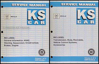 2005 Cadillac Deville Repair Manual Original 2 Volume Set