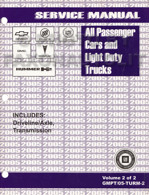 2005 GM Manual stick Transmission & 4x4 Transfer Case Service Manual