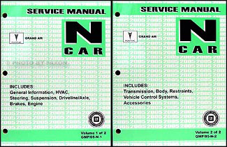 2005 Pontiac Grand Am Repair Manual Original 2 Volume Set