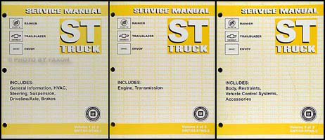 2005 Rainier Trailblazer Envoy Repair Manual Original 3 Volume Set