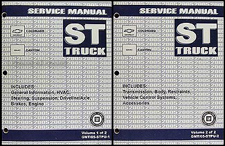 2005 Colorado and Canyon Repair Manual Original 2 Volume Set
