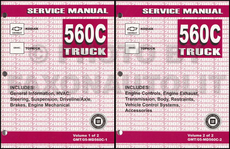 2005 Gmc Topkick Chevy Kodiak Repair Shop Manual Original 2 Volume Rhfaxonautoliterature: 2005 Chevrolet C7500 Wiring Diagram At Gmaili.net