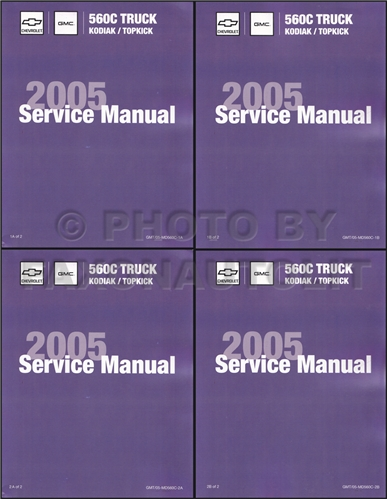 2005 Gmc Topkick  U0026 Chevy Kodiak Repair Shop Manual Original 2 Volume Set C4500