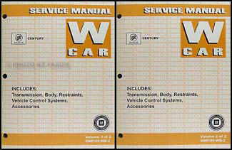 2005 Buick Century Repair Manual Original 2 Volume Set