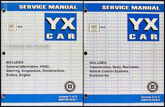 2005 Cadillac XLR Repair Manual Original 2 Volume Set