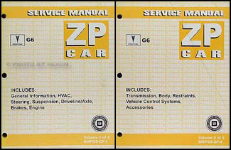 2005 Pontiac G6 Repair Manual 2 Volume Set Original