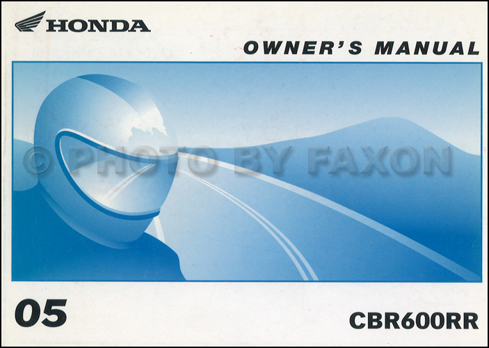 2005 Honda Cbr600rr Motorcycle Owner S Manual Original
