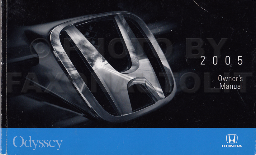 2005 Honda Odyssey Van Owner's Manual Original