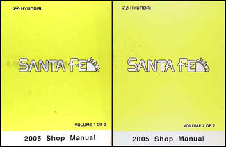 2005 Hyundai Santa Fe Shop Manual Original 2 Volume Set