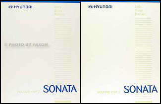 2005 Hyundai Sonata Shop Manual Original 2 Volume Set