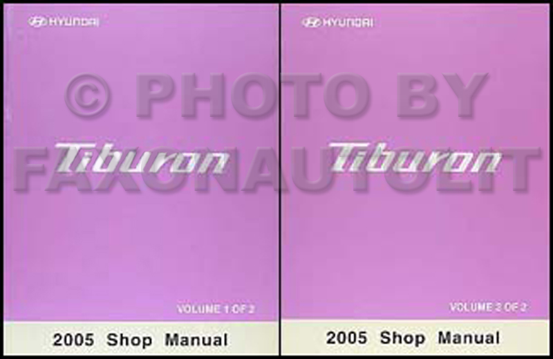2005 Hyundai Tiburon Shop Manual Original 2 Vol. Set