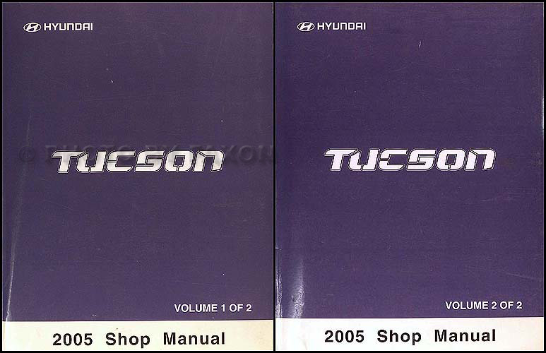 2005 Hyundai Tucson Repair Manual 2 Volume Set Original