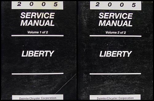 2005 Jeep Liberty Shop Manual Original 2 Vol. Set