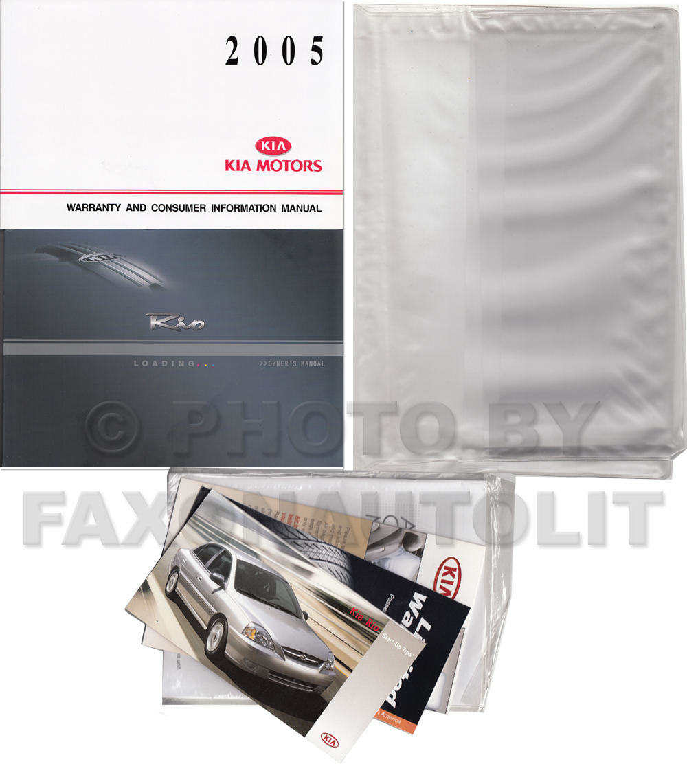 2005 Kia Rio Owners Manual Original