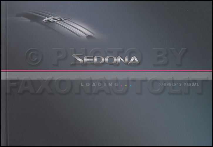 2005 Kia Sedona Owners Manual Original