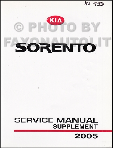 2004 Kia Sedona Repair Manual Original Supplement