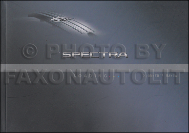 2005 Kia Spectra Owners Manual Original Canadian