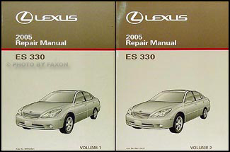 2005 Lexus ES 330 Repair Manual Original 2 Volume Set