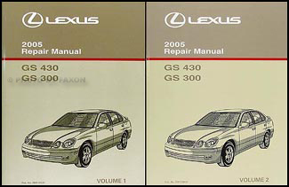 2005 Lexus GS 300/430 Repair Manual Original 2 Volume Set
