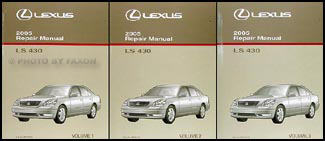 2005 Lexus LS 430 Repair Manual Original 3 Volume Set