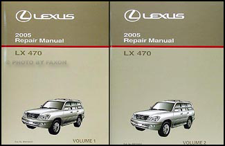 2005 Lexus LX 470 Repair Manual Original 2 Volume Set