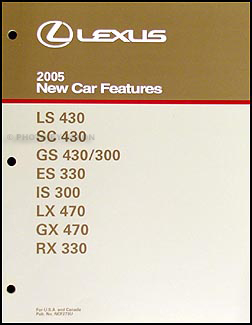 2005 Lexus Features Manual Original