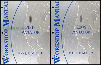 2005 Lincoln Aviator Shop Manual Original 2 Volume Set