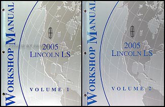 2005 Lincoln LS Shop Manual 2 Volume Set Original