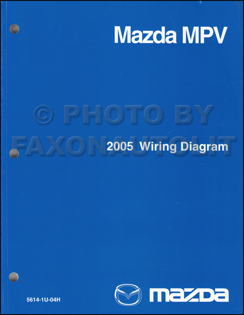2005 Mazda Mpv Wiring Diagram Manual Original
