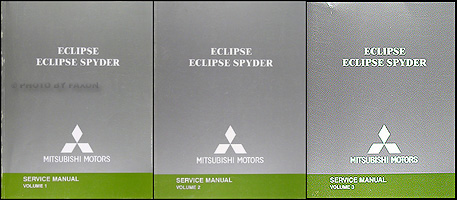 2005 Mitsubishi Eclipse and Spyder Original Repair Shop Manual 3 Vol. Set