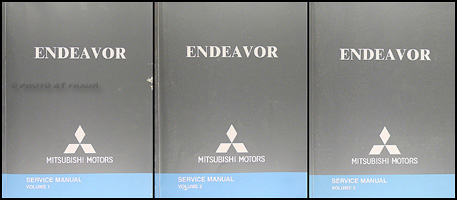 2005 Mitsubishi Endeavor Repair Manual Original 3 Vol.Set