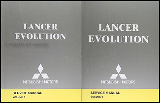 2005 Mitsubishi Lancer Evolution Repair Manual Original 2 Vol.Set