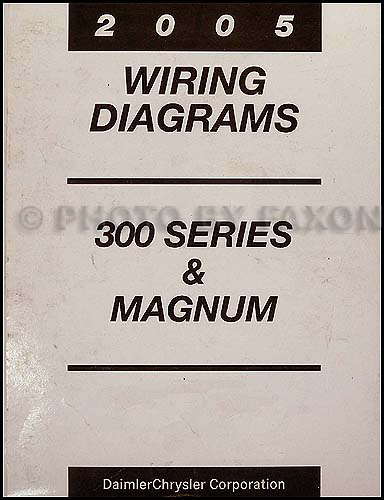 2005 chrysler 300 dodge magnum wiring diagram manual original  faxon auto literature