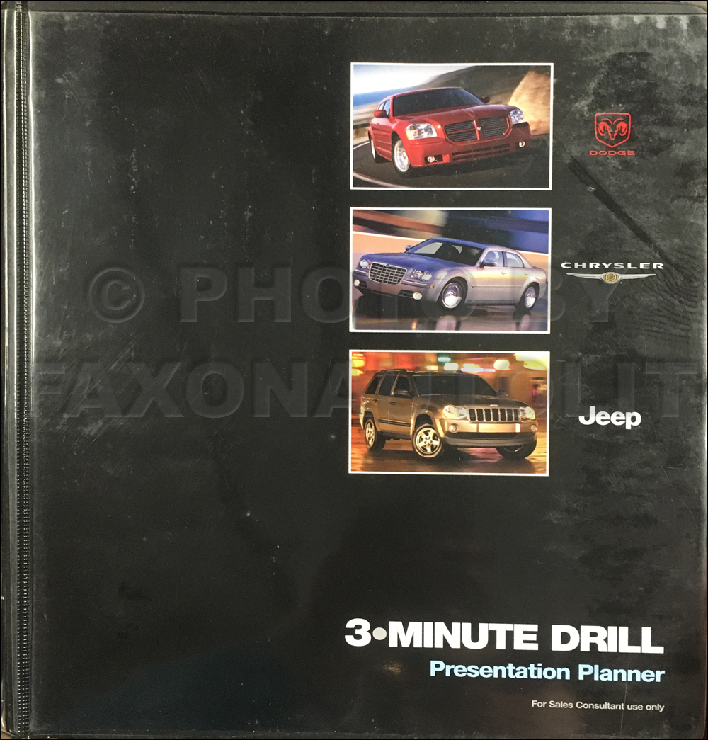 2005 Mopar 3-Minute Drill Presentation Planner Original
