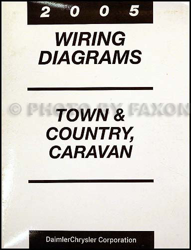 2005 chysler town  country and dodge caravan wiring diagram manual original