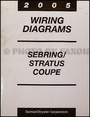 2005 Chrysler Sebring Dodge Stratus Coupe Wiring Diagram Manual Original