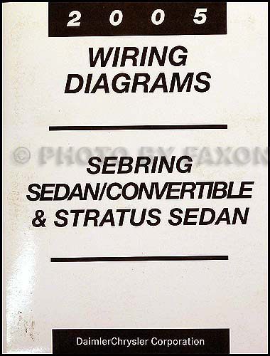 2005 Mopar Stratus Sebring Sedan/Covertible Wiring Diagram ManualFaxon Auto Literature