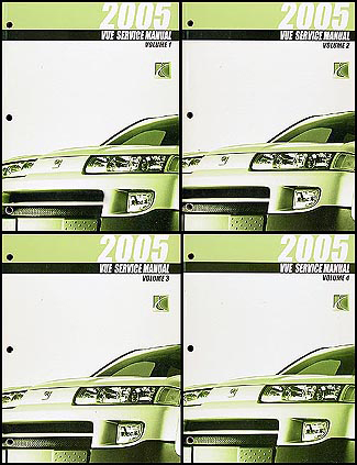 2005 Saturn VUE Shop Manual Original 4 Volume Set
