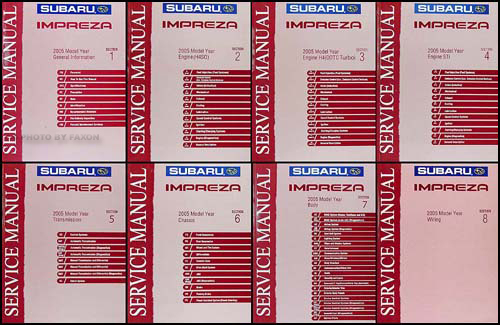 2005 Subaru Impreza & WRX Repair Manual 8 Volume Set Original
