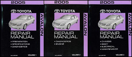 2005 Toyota Avalon Repair Manual 3 Volume Set Original