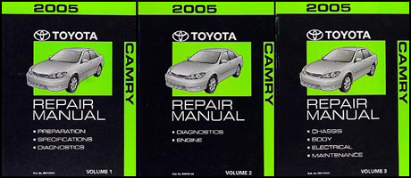 2005 Toyota Camry Repair Manual Original Set